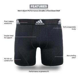 adidas Men's Sport Performance Boxer Briefs (2 Pack)