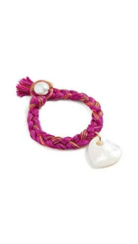 Lizzie Fortunato Rose Field Bracelet, Rose, Pink, Off White
