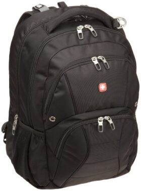 Swiss Gear SA1908 Black TSA Friendly ScanSmart Laptop Backpack